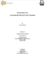 Evaluation of the California Motorcyclist Safety Program, Paper