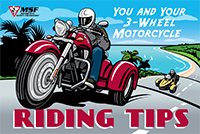 You and Your 3-Wheel Motorcycle: Riding Tips